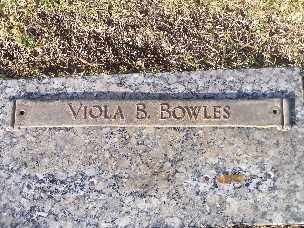 BOWLES, VIOLA BLANCH - Mohave County, Arizona | VIOLA BLANCH BOWLES - Arizona Gravestone Photos