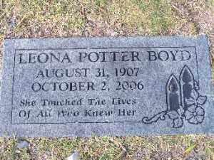 BOYD, LEONA POTTER - Mohave County, Arizona | LEONA POTTER BOYD - Arizona Gravestone Photos