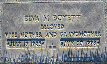 BOYETT, ELVA M - Mohave County, Arizona | ELVA M BOYETT - Arizona Gravestone Photos