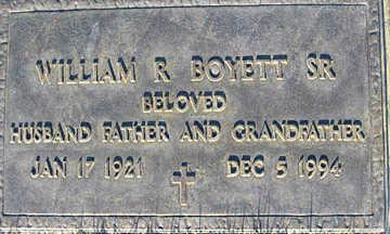 BOYETT SR., WILLIAM R - Mohave County, Arizona | WILLIAM R BOYETT SR. - Arizona Gravestone Photos