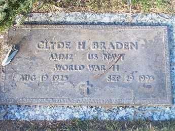 BRADEN, CLYDE H - Mohave County, Arizona | CLYDE H BRADEN - Arizona Gravestone Photos