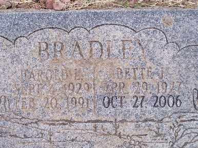 BRADLEY, BETTE J - Mohave County, Arizona | BETTE J BRADLEY - Arizona Gravestone Photos