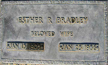 BRADLEY, ESTHER R - Mohave County, Arizona | ESTHER R BRADLEY - Arizona Gravestone Photos