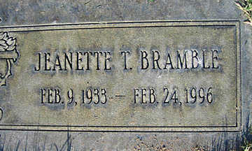 BRAMBLE, JEANETTE T - Mohave County, Arizona | JEANETTE T BRAMBLE - Arizona Gravestone Photos