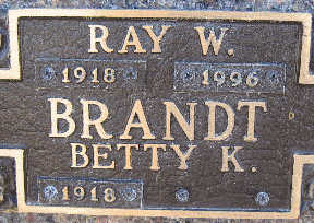 BRANDT, RAY W - Mohave County, Arizona | RAY W BRANDT - Arizona Gravestone Photos