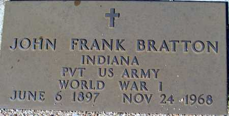 BRATTON, JOHN FRANK - Mohave County, Arizona | JOHN FRANK BRATTON - Arizona Gravestone Photos