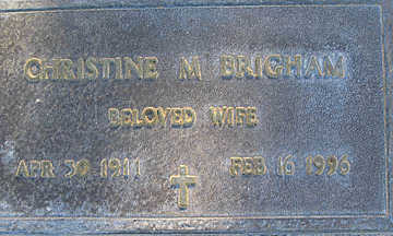 BRIGHAM, CHRISTINE M - Mohave County, Arizona | CHRISTINE M BRIGHAM - Arizona Gravestone Photos