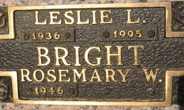 BRIGHT, LESLIE L - Mohave County, Arizona | LESLIE L BRIGHT - Arizona Gravestone Photos