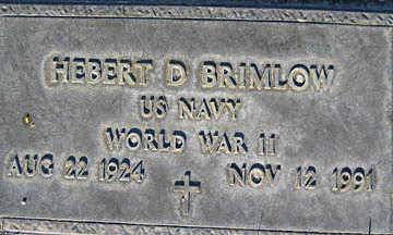 BRIMLOW, HERBERT D - Mohave County, Arizona | HERBERT D BRIMLOW - Arizona Gravestone Photos