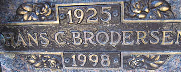 BRODERSEN, HANS - Mohave County, Arizona | HANS BRODERSEN - Arizona Gravestone Photos