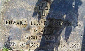 BROWN, EDWARD LLOYD - Mohave County, Arizona | EDWARD LLOYD BROWN - Arizona Gravestone Photos