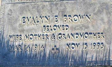 BROWN, EVALYN E - Mohave County, Arizona | EVALYN E BROWN - Arizona Gravestone Photos