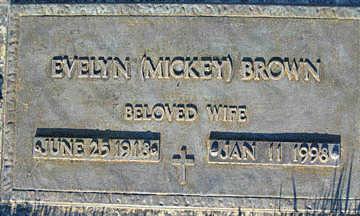 BROWN, EVELYN - Mohave County, Arizona   EVELYN BROWN - Arizona Gravestone Photos