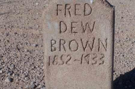 BROWN, FRED DEW - Mohave County, Arizona   FRED DEW BROWN - Arizona Gravestone Photos