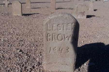 BROWN, LESTER - Mohave County, Arizona | LESTER BROWN - Arizona Gravestone Photos