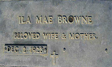 BROWNE, ILA MAE - Mohave County, Arizona | ILA MAE BROWNE - Arizona Gravestone Photos