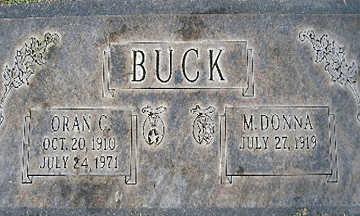 BUCK, M DONNA - Mohave County, Arizona | M DONNA BUCK - Arizona Gravestone Photos