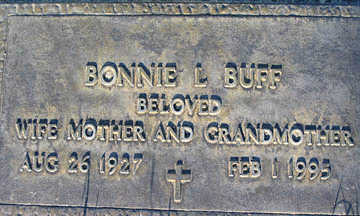 BUFF, BONNIE L - Mohave County, Arizona | BONNIE L BUFF - Arizona Gravestone Photos