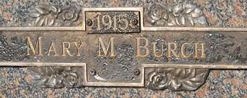 BURCH, MARY M - Mohave County, Arizona   MARY M BURCH - Arizona Gravestone Photos
