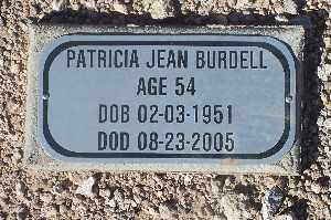 BURDELL, PATRICIA JEAN - Mohave County, Arizona | PATRICIA JEAN BURDELL - Arizona Gravestone Photos