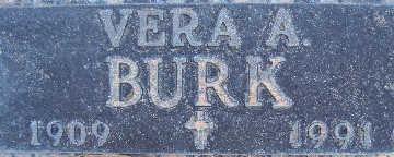 BURK, VERA A - Mohave County, Arizona | VERA A BURK - Arizona Gravestone Photos