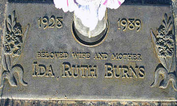 BURNS, IDA RUTH - Mohave County, Arizona   IDA RUTH BURNS - Arizona Gravestone Photos