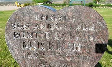 BURRIGHT, MENTIE EARLINE - Mohave County, Arizona | MENTIE EARLINE BURRIGHT - Arizona Gravestone Photos