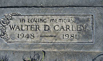 CARLEY, WALTER DONALD - Mohave County, Arizona | WALTER DONALD CARLEY - Arizona Gravestone Photos