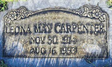 CARPENTER, LEONA MAY - Mohave County, Arizona | LEONA MAY CARPENTER - Arizona Gravestone Photos