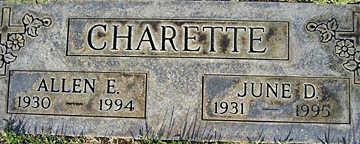 CHARETTE, JUNE D - Mohave County, Arizona | JUNE D CHARETTE - Arizona Gravestone Photos