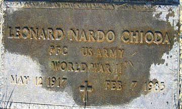 CHIODA, LEONARD NARDO - Mohave County, Arizona | LEONARD NARDO CHIODA - Arizona Gravestone Photos