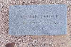 CHURCH, ELIZABETH - Mohave County, Arizona | ELIZABETH CHURCH - Arizona Gravestone Photos