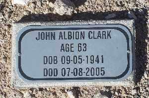 CLARK, JOHN ALBION - Mohave County, Arizona   JOHN ALBION CLARK - Arizona Gravestone Photos