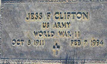 CLIFTON, JESS F - Mohave County, Arizona   JESS F CLIFTON - Arizona Gravestone Photos