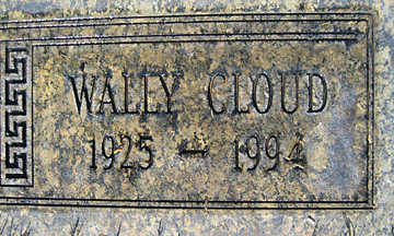CLOUD, WALLY - Mohave County, Arizona | WALLY CLOUD - Arizona Gravestone Photos
