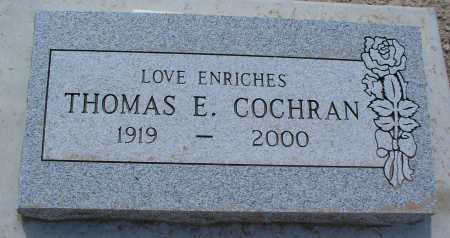 COCHRAN, THOMAS E. - Mohave County, Arizona | THOMAS E. COCHRAN - Arizona Gravestone Photos