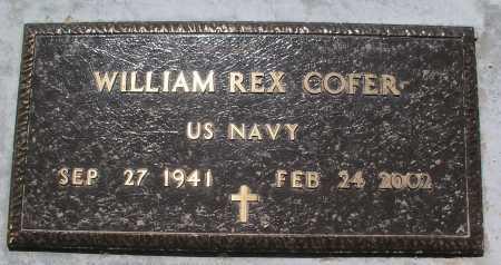 COFER, WILLIAM REX - Mohave County, Arizona | WILLIAM REX COFER - Arizona Gravestone Photos