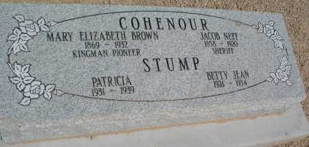 BROWN COHENOUR, MARY ELIZABETH - Mohave County, Arizona | MARY ELIZABETH BROWN COHENOUR - Arizona Gravestone Photos