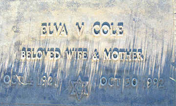 COLE, ELVA V - Mohave County, Arizona   ELVA V COLE - Arizona Gravestone Photos