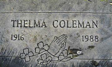 COLEMAN, THELMA - Mohave County, Arizona   THELMA COLEMAN - Arizona Gravestone Photos