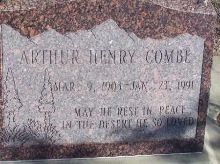 COMBE, ARTHUR HENRY - Mohave County, Arizona   ARTHUR HENRY COMBE - Arizona Gravestone Photos