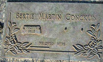 CONCKLIN, BERTIE MARTIN - Mohave County, Arizona | BERTIE MARTIN CONCKLIN - Arizona Gravestone Photos