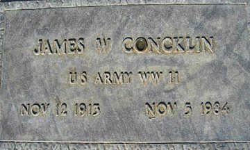 CONCKLIN, JAMES W - Mohave County, Arizona | JAMES W CONCKLIN - Arizona Gravestone Photos