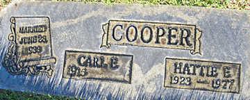 COOPER, HATTIE E - Mohave County, Arizona   HATTIE E COOPER - Arizona Gravestone Photos