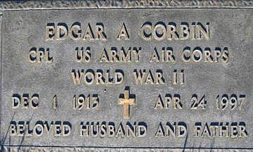 CORBIN, EDGAR A - Mohave County, Arizona | EDGAR A CORBIN - Arizona Gravestone Photos