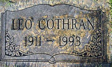 COTHRAN, LEO - Mohave County, Arizona   LEO COTHRAN - Arizona Gravestone Photos