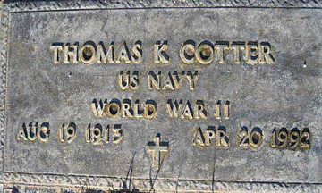 COTTER, THOMAS K - Mohave County, Arizona | THOMAS K COTTER - Arizona Gravestone Photos