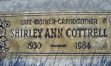 COTTRELL, SHIRLEY ANN - Mohave County, Arizona | SHIRLEY ANN COTTRELL - Arizona Gravestone Photos