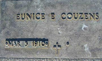 COUZENS, EUNICE E - Mohave County, Arizona   EUNICE E COUZENS - Arizona Gravestone Photos