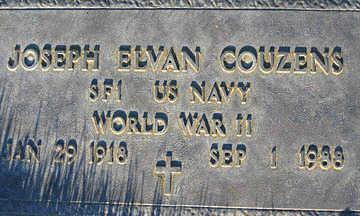 COUZENS, JOSEPH ELVAN - Mohave County, Arizona | JOSEPH ELVAN COUZENS - Arizona Gravestone Photos